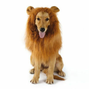 Christmas Halloween Dog Costumes Fancy Dress Up Lion Mane Wig for Large Dogs