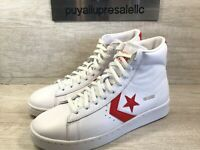 Converse Pro Leather Mid 'Then & Now' White/Red 168131C Men Size 7/Wmns Size 8.5