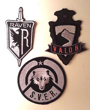 Mag Massive Action Game Embroidered Patch Set of 3-Valor/Raven/Sver(Magpa- Set-3)