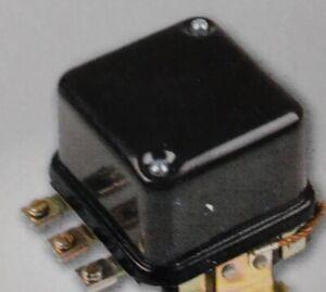 Voltage Regulator - 12 Volt - 4 Terminal - Curved Mount- AC JD MF OL MM