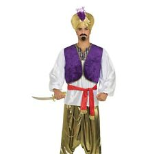Men's Desert Prince Shirt & Vest Costume - Fancy Dress Mens Aladdin Adult