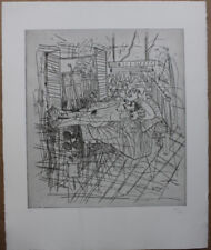 CANE Louis - Gravure etching signée épreuve d'artiste nu allongé petit tirage *
