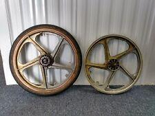 "Bmx wheels Ogk 1987 made in Japan 5spoke 16t 3/8""in axle fits 20x2.25(max)"