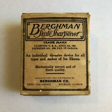 Vintage Berghman Skate Sharpener from 1920s with Box and Instructions