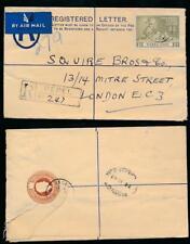 Sierra Leone 1949 Upu 1/- Uprating Registered Stationery Pepel Boxed