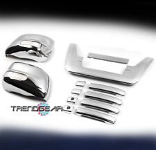 DOOR HANDLE +LED MIRROR +TAILGATE COVER TRIM COMBO CHROME FOR 2005-2012 FRONTIER