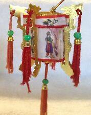 Vintage Miniature Chinese Lantern Christmas Light Covers 6 Sided Hallmark ? X 2