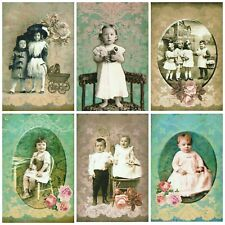 CUTE AS A BUTTON ALTERED ART Card Making Toppers, Card Toppers (12)