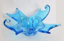 "14""  BLUE  Lorraine / Chalet / Chantili / EDAG TYPE CANADA Art Glass Centerpiece"