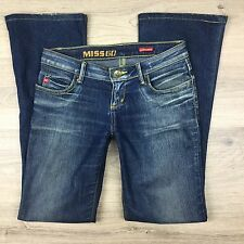 Miss Sixty Extra Low Ty Boot Cut Women's Jeans Size 25 W30 L31.5 (HH14)