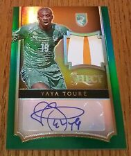 Yaya Toure 2015 SELECT GREEN 2 CLR EMERALD PRIME JERSEY PATCH AUTO IVORY 5/5 SSP