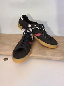 Lacoste Mens Sideline Black & Red Fashion Sneaker Size 7.5M (1455953) MSRP $79