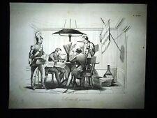 Incisione d'allegoria e satira Pietro Sterbini, Concilio, Roma Don Pirlone 1851