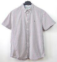 WRANGLER Men's Medium Check Shirt Short Sleeved Cotton Casual Summer Western Top