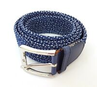 ds Cinta Cintura Donna Uomo Intrecciata Blu Bianca Glamour Fashion Alla Moda hac