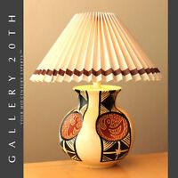 MID CENTURY MODERN PRIMITIVE SCULPTURAL TABLE LAMP! INTERIOR DESIGN VTG 50'S 60S