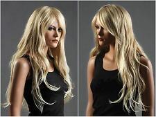 Haute qualité ! Blonde longue cheveux en bonne santé, cosplay Costume perruques