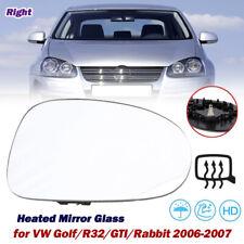 Passenger Side Mirror Glass Power Heated for VW Golf/R32/GTI/Rabbit/Jetta 05-10