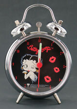"Betty Boop Twin Bell 3"" Alarm Clock Black Dial Pin-Ups Gift"