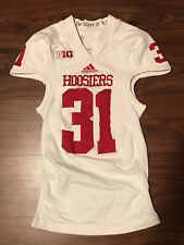 2012 Adidas Indiana Hoosiers Away White #31 Tech Fit Game Worn/Used Jersey