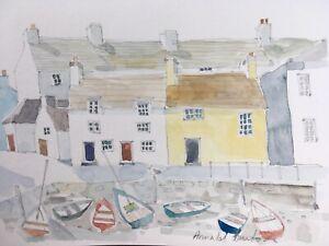 Signed Original 'Cornish Village' by Annabel Burton