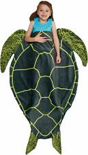 Silver Lilly Turtle Plush Animal Shaped Novelty Sleeping Bag Blanket for Kids