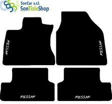 TAPIS NISSAN QASHQAI+2 SUR MESURE, décoration : Nissan blanc + 4 Fixer Universel