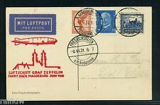 Zeppelin Fahrt nach Magdeburg 1931 Rückfahrt (S8891)