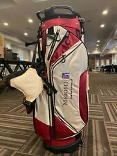 Brand New Meiomi Iconic Red White and Black Kick Stand Golf Bag