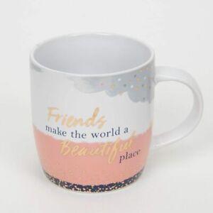 'Friends Make The World A Beautiful Place' Mug -  Christmas -  Birthday -  Gift