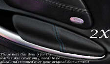 BLUE STITCH FITS PORSCHE BOXSTER 986  2X DOOR ARMREST LEATHER COVERS ONLY