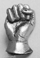 Solidarity Fist Pin Badge - Hand Made in English Pewter