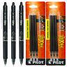 Pilot FriXion Clicker Erasable Black Gel Ink Pens, 3 Pens With 2 Pk of Refill