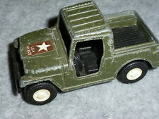 TOY TOOTSIETOY ARMY MILITARY JEEP TOOTSIE TOY METAL TOY JEEPSTER