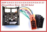 Radio Kabel passend für E30 E36 E46 E34 E39 E32 E38 E31 X5 ISO Stecker Auto KFZ