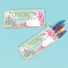 MAGICAL UNICORN CRAYONS (Pack of 12) Childrens Party Treat Party Bag Filler