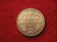 1870, 50 cents.   LCW.  Attractive, higher grade coin. Canada. Queen Victoria.