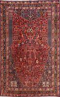 Vintage Kashkoli Geometric Hand-Knotted Vegetable Dye Area Rug Tribal Carpet 5x8