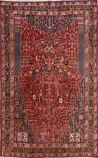 Vintage Kashkoli Geometric Hand-Knotted Vegetable Dye Area Rug Tribal Carpet 5x8