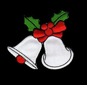 Ag83 Christmas Bells Sew-On Iron-On Patch Application Children DIY Winter