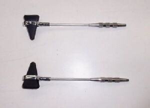 Taylor Percussion (Reflex) Hammer with Pin & Brush Surgical Instrument 2 pc