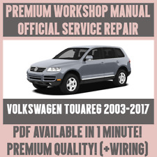 >WORKSHOP MANUAL SERVICE & REPAIR GUIDE for VOLKSWAGEN TOUAREG 2003-2017 +WIRING