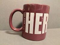 Hershey's Chocolate Logo Brown Coffee Mug Cup Grey Block Letters New