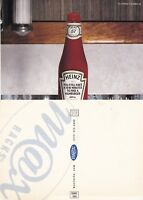 HEINZ TOMATO KETCHUP UNUSED ADVERTISING COLOUR POSTCARD (a)