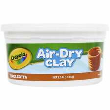 Crayola Air-Dry Durable Non-Toxic terra cotta Modeling Clay, 2.5