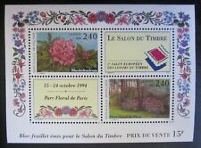 Bloc Salon du timbre 1993 - Fleurs Parc floral