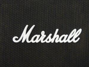 Marshall White Script Logo 275mm