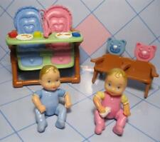 LOVING FAMILY Time DREAM DOLL HOUSE GRAND MANSION Baby Twins High Chair Boy Girl