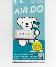 AIR DO JAPAN TIMETABLE 6/2014-6/30/2014 B737-500/700-767-300 AIR DO BEAR