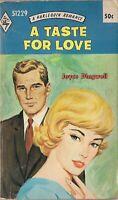 Harlequin Romance 51229 A Taste for Love by Joyce Dingwell Vintage Romance
